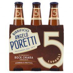 ANGELO PORETTI-Birrificio Angelo Poretti Le Originali 5 Luppoli Bock Chiara Doppio Malto 3 x 33 cl