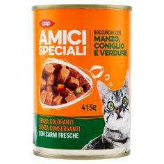Coop-Bocconcini con Manzo, Coniglio e Verdure 415 g