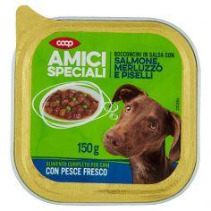 Coop-Bocconcini in Salsa con Salmone, Merluzzo e Piselli 150 g