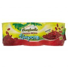 BONDUELLE-Bonduelle al Vapore Fagioli Rossi 3 x 160 g