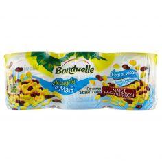 BONDUELLE-Bonduelle Allegrie di Mais Mais e fagioli rossi 3 x 170 g
