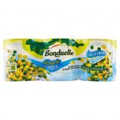 BONDUELLE-Bonduelle Allegrie di Mais Mais e piselli 3 x 170 g