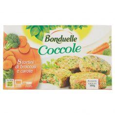 BONDUELLE-Bonduelle Coccole 8 tortini di broccoli e carote Surgelato 300 g