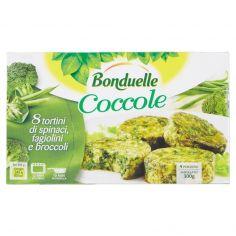 BONDUELLE-Bonduelle Coccole 8 tortini di spinaci, fagiolini e broccoli 300 g