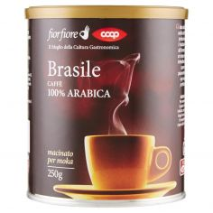 Coop-Brasile Caffè 100% Arabica macinato per moka 250 g