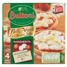 BELLA NAPOLI-BUITONI BELLA NAPOLI LA CLASSICA MINI MARGHERITA Pizza surgelata 300g (4 mini pizze)