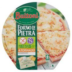 FORNO DI PIETRA-BUITONI FORNO DI PIETRA PIZZA 4 FORMAGGI Senza glutine e senza lattosio pizza surgelata 360g 1 pizza