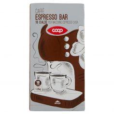 Coop-Caffè Espresso Bar 18 cialde Monodose 126 g per Macchine Espresso Casa