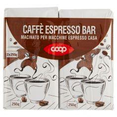 Coop-Caffè Espresso Bar Macinato per Macchine Espresso Casa 2 x 250 g