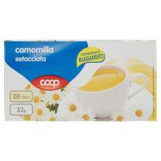 Coop-camomilla setacciata 20 filtri 32 g