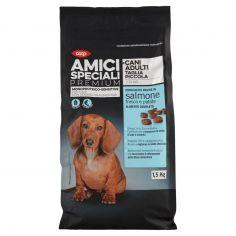 Coop-Cani Adulti Taglia Piccola Monoproteico-Sensitive Crocchette Ricche in salmone fresco e patate 1,5Kg