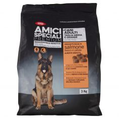 Coop-Cani Adulti Tg Media Grande Monoproteico-Sensitive Crocchette Ricche in salmone fresco e patate 3Kg