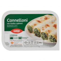 Coop-Cannelloni con ricotta e spinaci Surgelati 500 g
