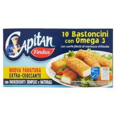 CAPITAN FINDUS-Capitan Findus 10 Bastoncini con Omega 3 250 g