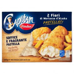 CAPITAN FINDUS-Capitan Findus 2 Fiori di Merluzzo d'Alaska Pastellati 240g