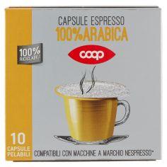 Coop-Capsule Espresso 100% Arabica 10 Capsule Pelabili 50 g