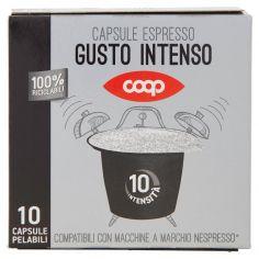 Coop-Capsule Espresso Gusto Intenso 10 Capsule Pelabili 50 g