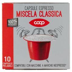 Coop-Capsule Espresso Miscela Classica 10 Capsule Pelabili 50 g