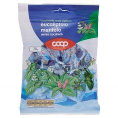 Coop-caramelle dure ripiene eucaliptolo mentolo senza zucchero 70 g