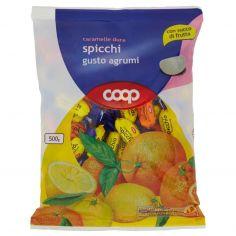 Coop-caramelle dure spicchi gusto agrumi 500 g
