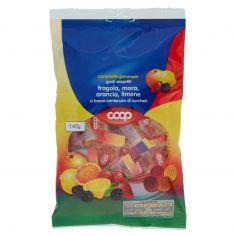 Coop-Caramelle gommose gusti assortiti fragola, mora, arancia, limone a basso contenuto di zuccheri 140 g