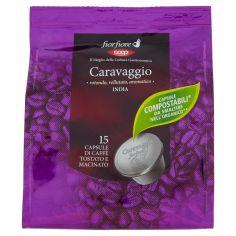 Coop-Caravaggio India 15 Capsule di Caffè Tostato e Macinato 95 g
