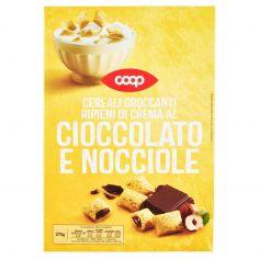 Coop-Cereali Croccanti Ripieni di Crema al Cioccolato e Nocciole 375 g