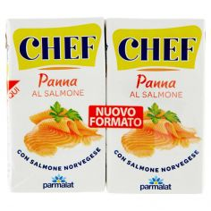 CHEF-Chef Panna al Salmone 2 x 125 ml