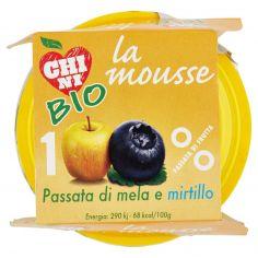 CHINI-Chini Bio la mousse Passata di mela e mirtillo 2 x 100 g