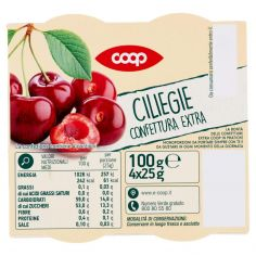Coop-Ciliegie Confettura Extra 4 x 25 g
