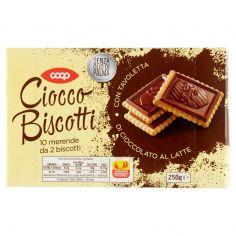 Coop-Ciocco Biscotti con Tavoletta di Cioccolato al Latte 250 g