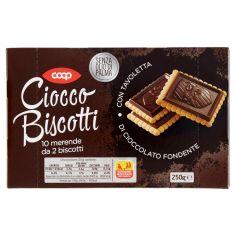 Coop-Ciocco Biscotti con Tavoletta di Cioccolato Fondente 250 g