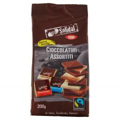 Coop-Cioccolatini Assortiti al latte, fondente, bianco 200 g