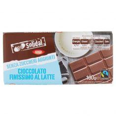 Coop-Cioccolato Finissimo al Latte Senza Zuccheri Aggiunti 100 g