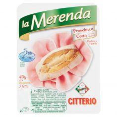 MERENDA-Citterio la Merenda Prosciutto Cotto di Alta Qualità 5 fette 40 g