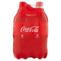 COCA COLA REGULAR-Coca-Cola Regular Bottiglia di plastica 660ml x4