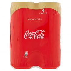 CAFFEINE FREE-Coca-Cola Senza Caffeina lattina 330ml x4