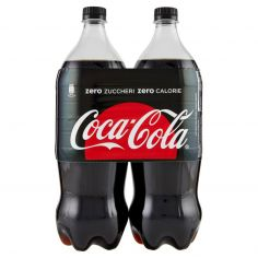 COCA COLA ZERO-Coca-Cola Zero Zuccheri Zero Calorie Bottiglia di plastica 1350ml x2