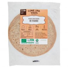 Come una Volta 100% Vegetale Piada con Farina di Farro Bio 3 Pezzi 300 g