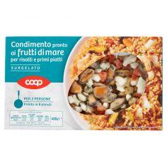 Coop-Condimento pronto ai frutti di mare per risotti e primi piatti Surgelato 400 g