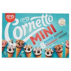 MINIATURE-Cornetto Algida Mini Classico - Hazelnut - Strawberry - Coconut 8 x 36 g