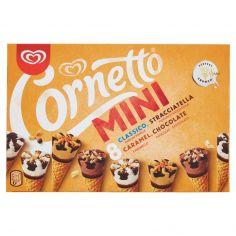 MIXMINI-Cornetto Algida Mini Classico, Stracciatella, Caramel, Chocolate 8 x 36 g