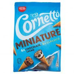 MINIATURE-Cornetto Algida Miniature 6x Cacao 6x Classico 12 x 19 g