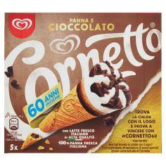 CORNETTO-Cornetto Algida Panna e Cioccolato 60 Anni Insieme 5 x 75 g