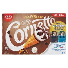 CORNETTO-Cornetto Algida Panna e Cioccolato 8 x 60 g