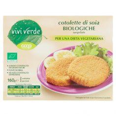 Coop-cotolette di soia Biologiche surgelate 2 cotolette 160 g