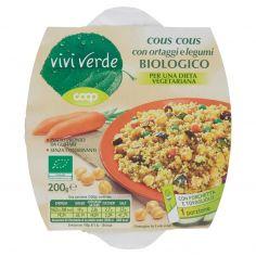 Coop-cous cous con ortaggi e legumi Biologico 200 g
