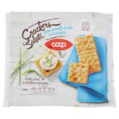 Coop-Crakers Salati senza granelli di sale in superficie 16 x 35 g