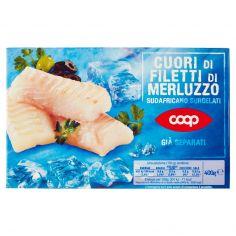 Coop-Cuori di Filetti di Merluzzo Sudafricano Surgelati 400 g