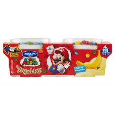 DANONE-Danone Yogoloso Yogurt con Banana frullata Super Mario 2 x 110 g